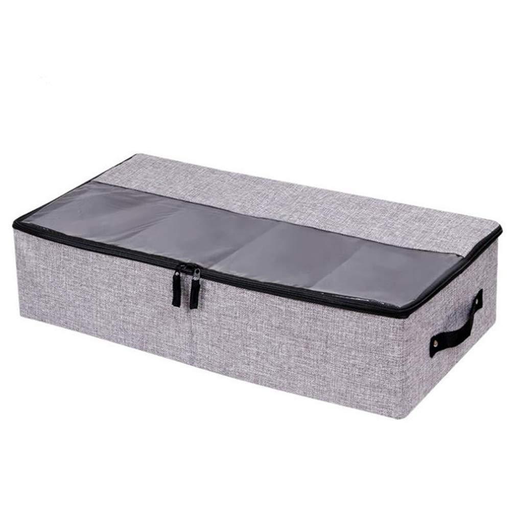 VADOLY Foldable Shoe Box Wardrobe Closet Organizer for Sock Bra Underwear Linen Cotton Storage Bag Under Bed Organizer