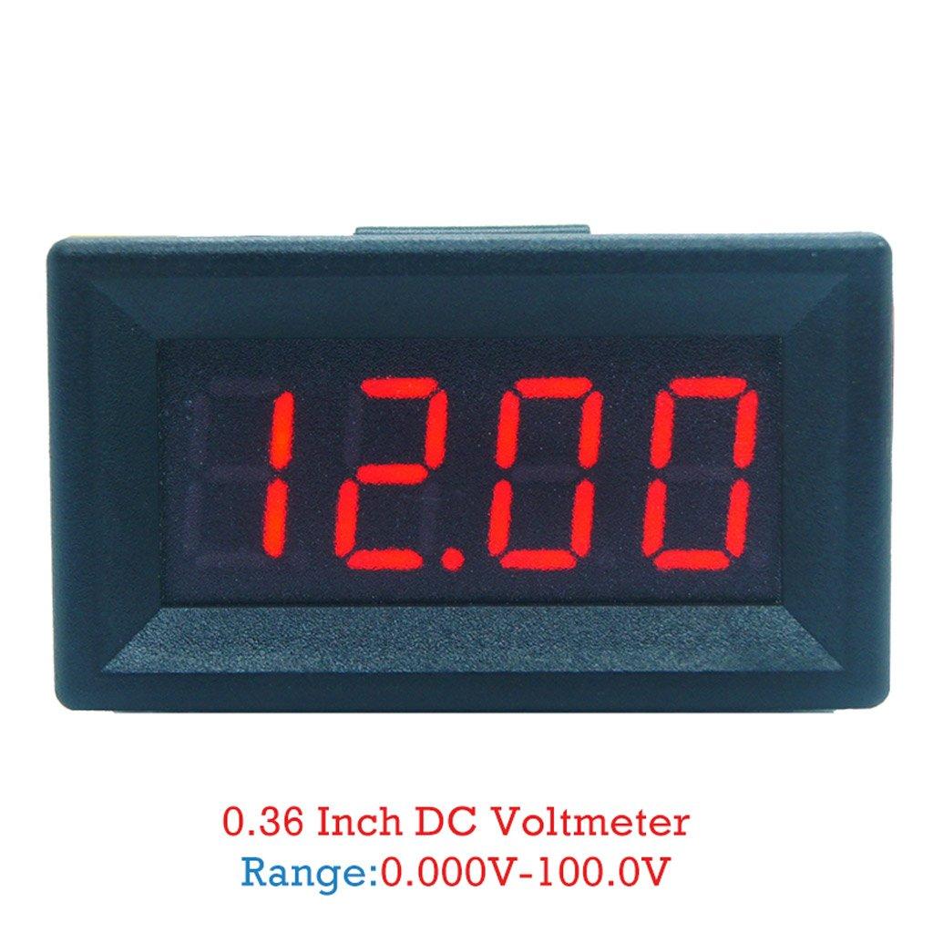 DC 0-99.99V (100V) 4-digits 0.36inch Digital Voltmeter 3Wire Voltage Panel Meter by SQLang (Image #6)