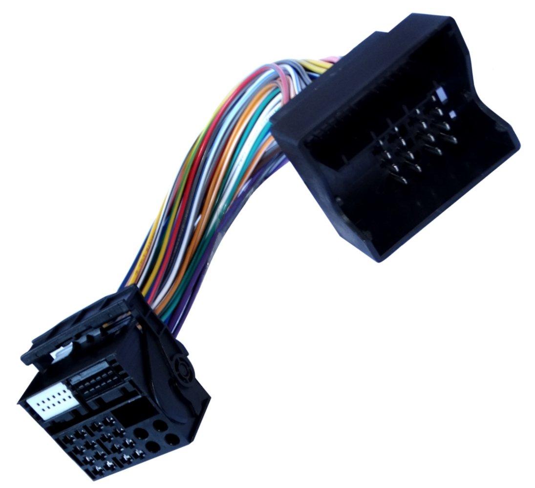 AERZETIX: Adaptador cable enchufes ISO para autoradio Quadlock de coche, vehiculos C10872 SK2-C10872-Q31