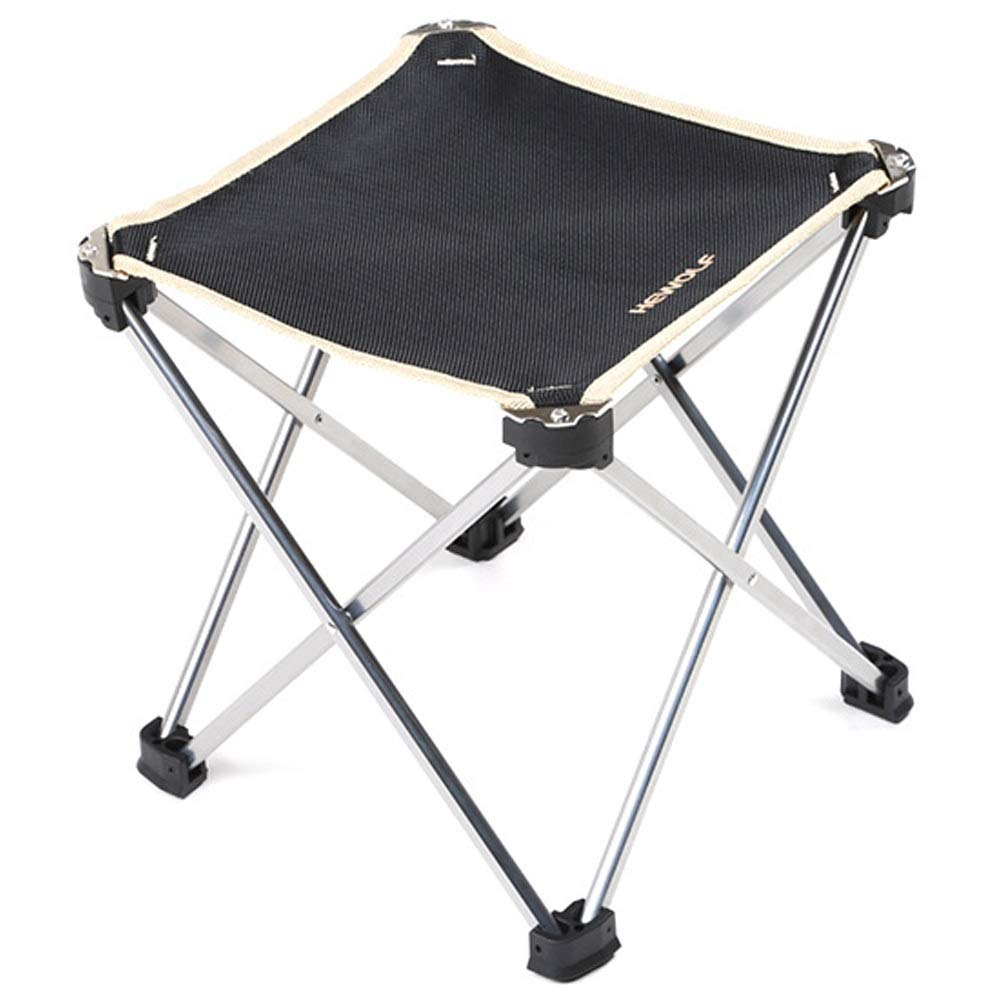 Folding Chair Outdoor Light Portable Casual Stool Aluminum Fishing Folding Chair (Color : Black, Size : 2415cm)