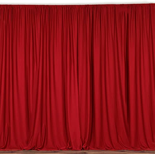 lovemyfabric 100 Polyester Window Curtain Stage Backdrop Curtain Photography Backdrop 58 Inch X 120 Inch Approx 5ft X 10ft 1, Red