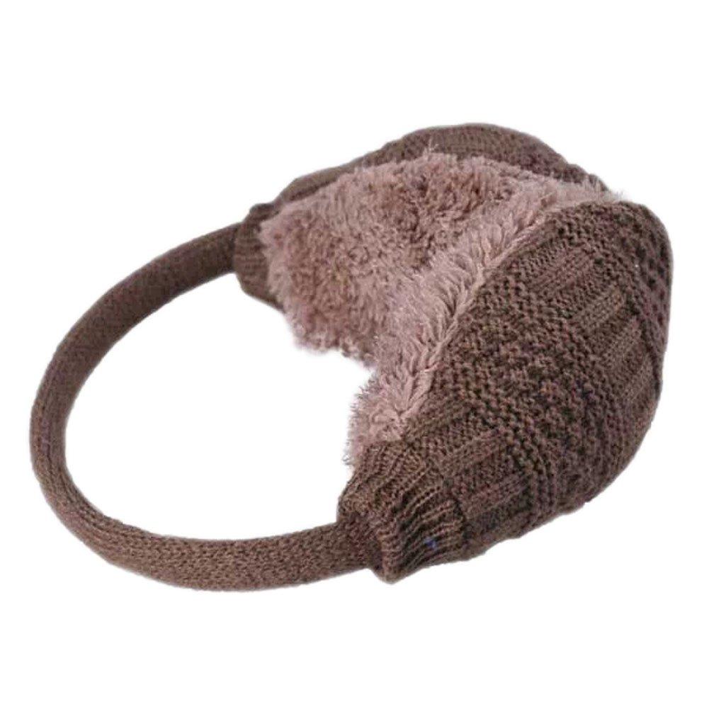 [CAMEL] Woolen Wave Ear Warmer Winter Ear Protector Fur Earmuffs