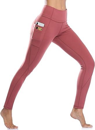 Womens Sports Yoga Pants High Waist Gym Leggings Pocket Stretch Running Trousers