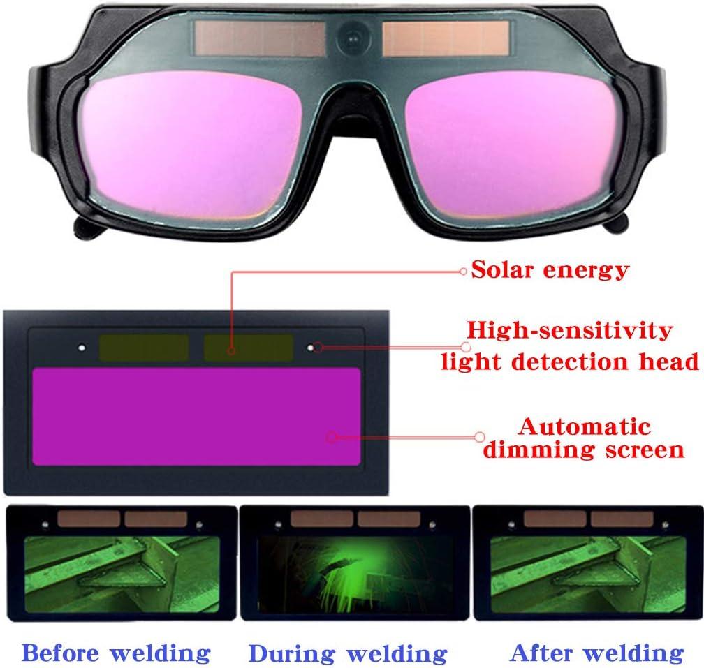 Quadruped Crab Schwei/ßBrille,Schwei/ßEr Brillen,Schwei/ßBrille Solar,Schwei/ßBrille F/üR Brillentr/äGer,Solar Auto Darkening Blackout Level 6-13,0,1 Ms Variables Licht