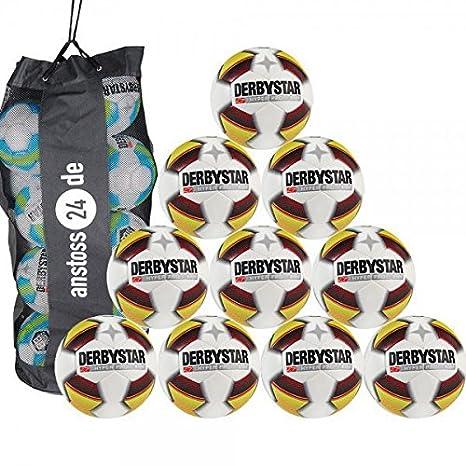 10 x Derbystar fútbol - Hyper Pro S - Light Incluye Saco de balón ...