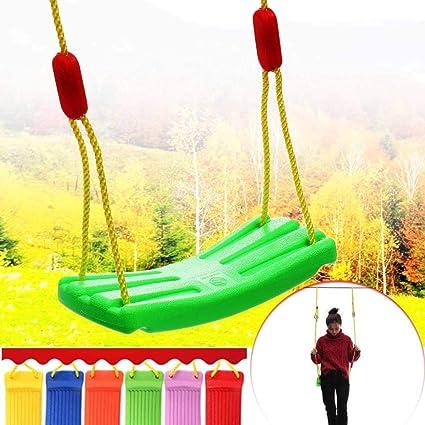 Home+Swing Chair Mecedora Interior Al Aire Libre Jardín Columpio Asiento Bebé Niños Niños Juguete Tipo U Cuerda Ajustable Plástico Color Caramelo 37X17Cm Deporte Interior: Amazon.es: Deportes y aire libre