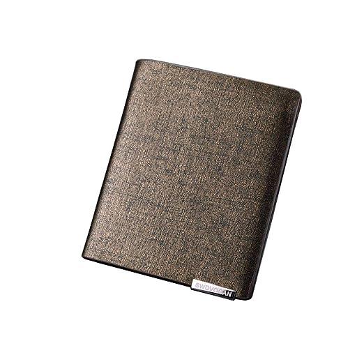 f6b0a4728aa9 Amazon.com: Blocking Slim Genuine Leather Minimalist Front Pocket ...
