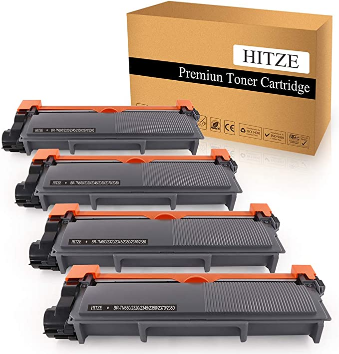 Amazon.com: HITZE Compatible Toner Cartridge Replacement for Brother TN630 TN660 TN-660 for Brother MFC-L2700DW DCP-L2540DW HL-L2300D HL-L2380DW HL-L2340DW HL-L2360DW MFC-L2740DW (Black, High Yield, 4 Pack): Office Products
