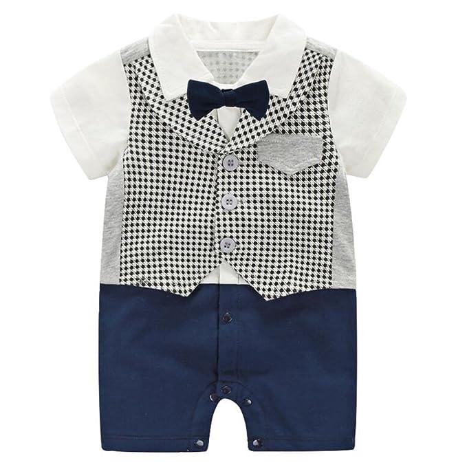 Amazon.com: Mornyray - Mono formal para bebé con corbata ...