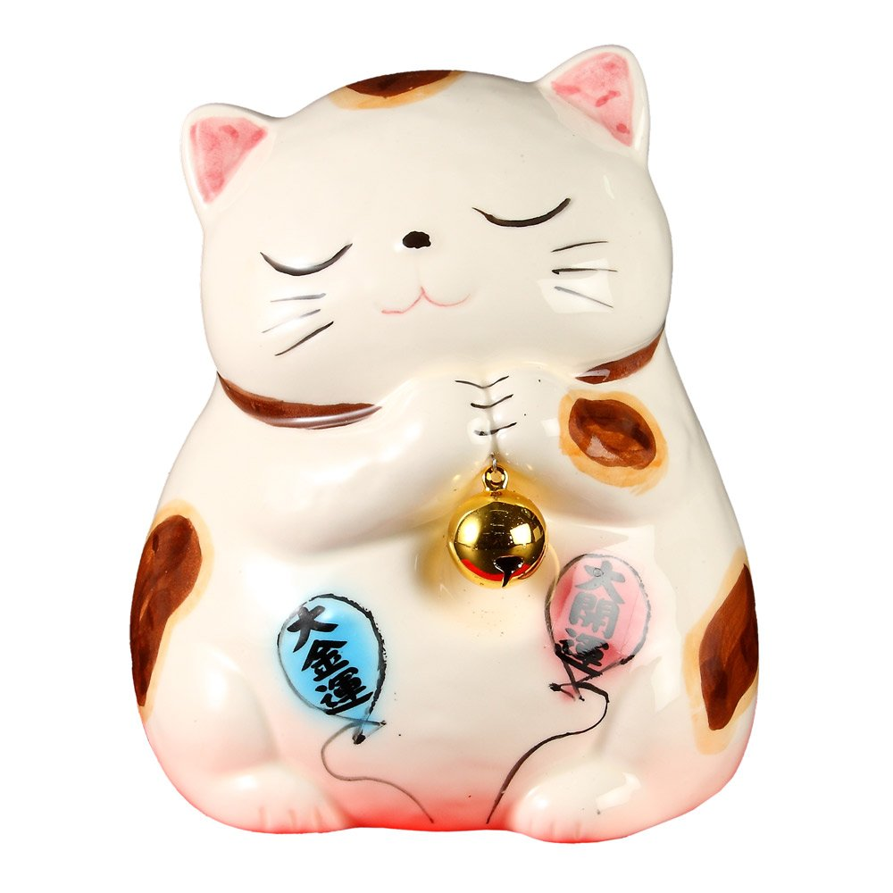 Balloon ask cat white small O-1017