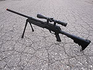 MetalTac MB06 SR-2 Tactical Airsoft Sniper Rifle w/ 3-9x32 Scope & Bipod AWP 500 fps Bolt Action Airsoft Sniper Rifle