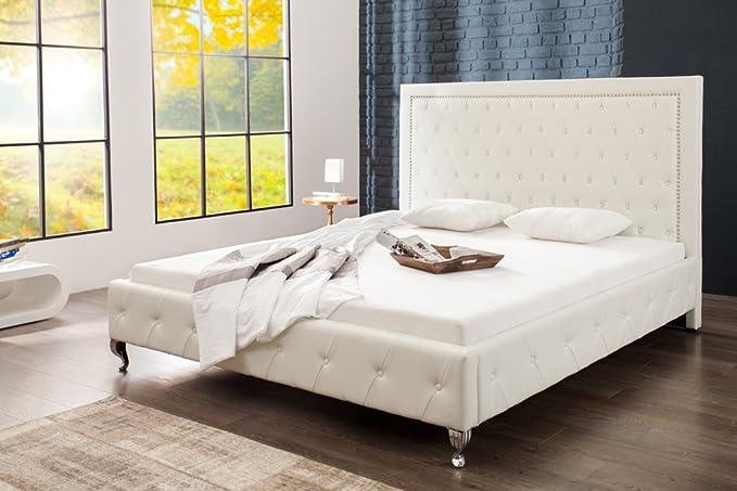Design Doppelbett EXTRAVAGANCIA 180 x 200 cm weiß Polsterbett Modernes Bett