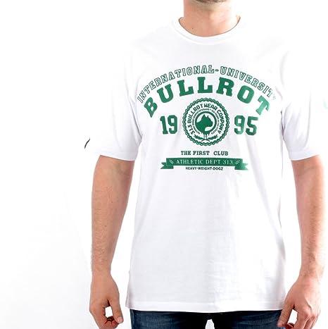 BULLROT - Camiseta - para Hombre Blanc - Vert L: Amazon.es ...
