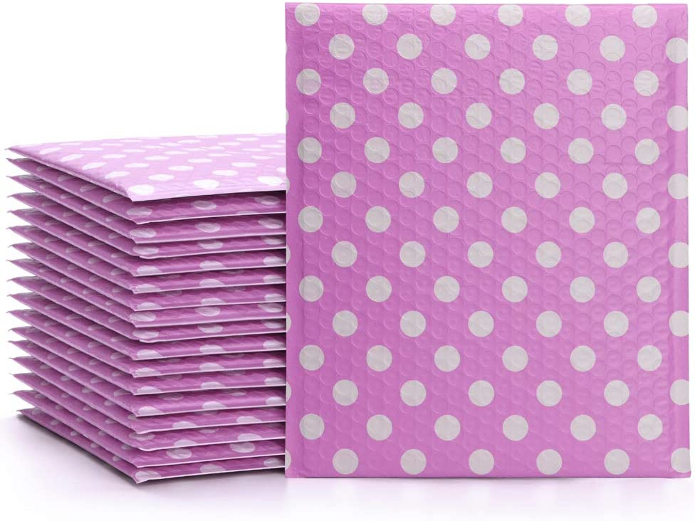 "FU GLOBAL Padded Envelopes 2 Poly Bubble Mailers 8.5x12/"" Bubble Envelopes White"
