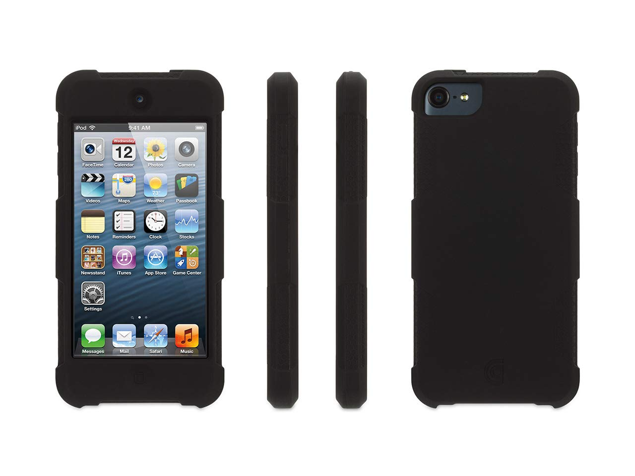 Griffin Survivor Skin iPod Touch (5th/6th gen.) Case with Tough Silicone and Shock-Absorbing Design, Black