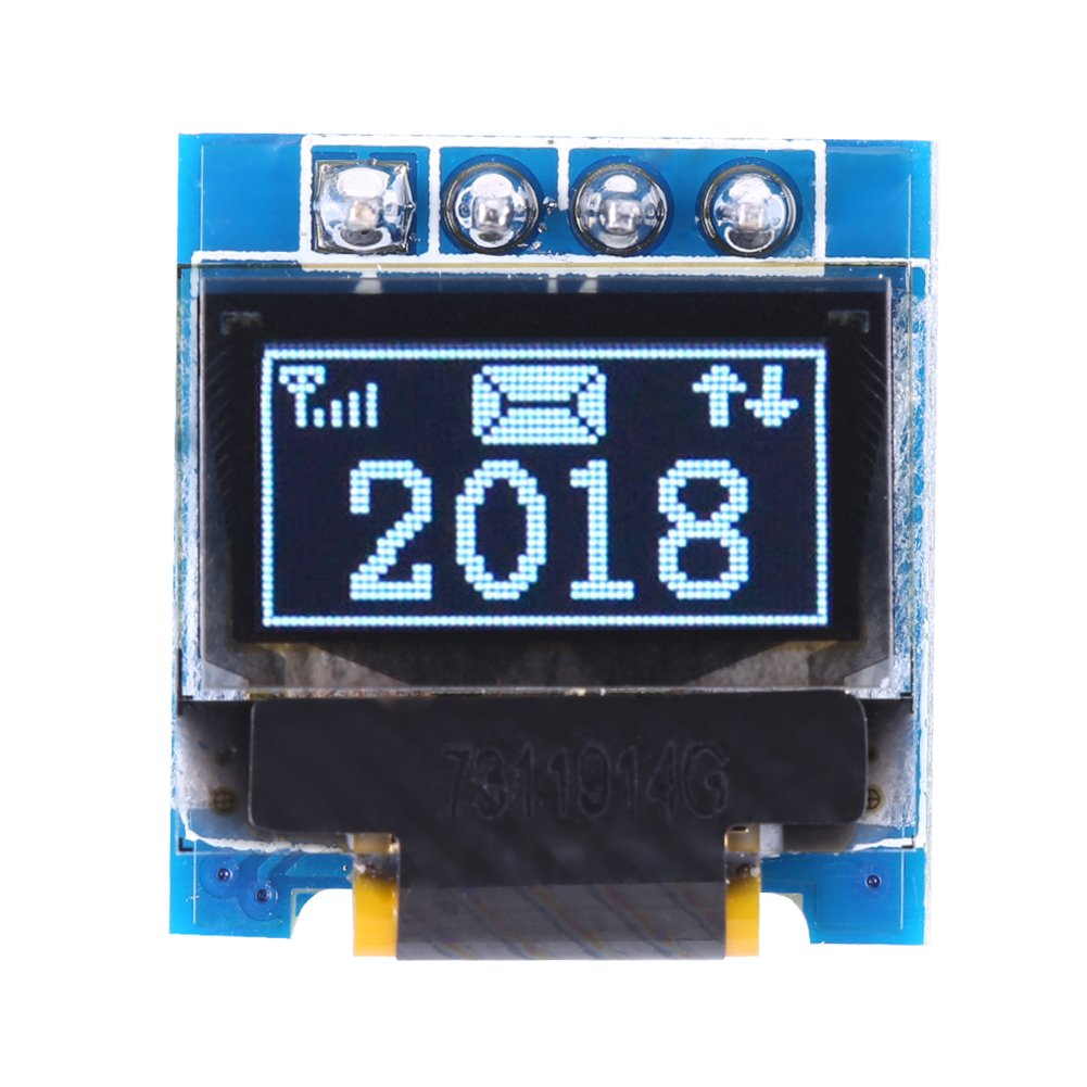 0.49 Inch Smart OLED LCD LED Display Module SSD1306 Resolution 128 32 Support I2C IIC SPI Interface for Arduino Display Raspberry White Text