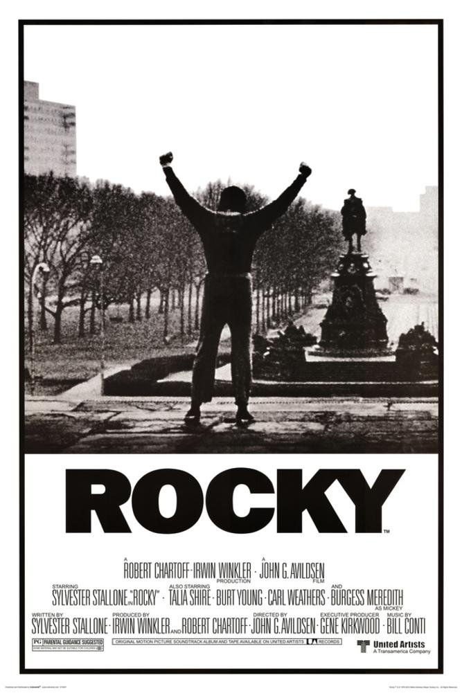 Rocky Poster - His whole life was a million to one shot, 24x36