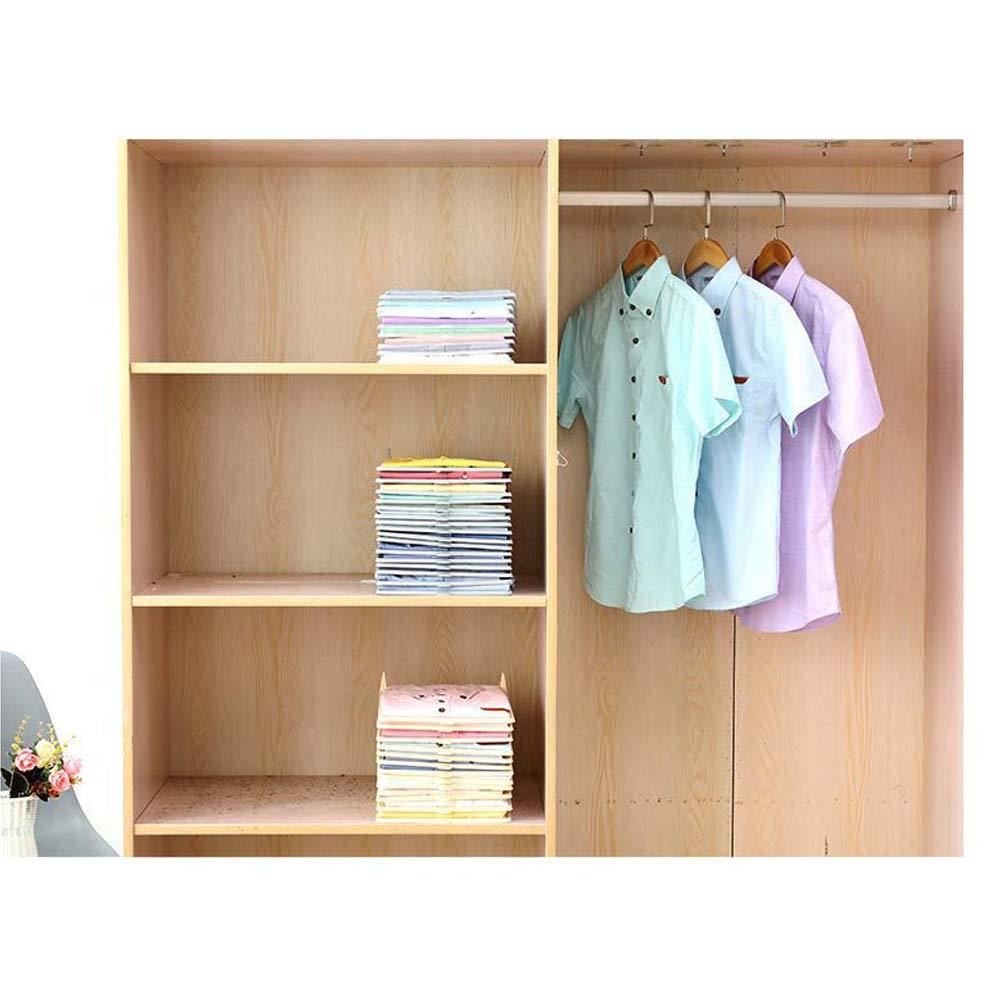Soportes Antiarrugas para Guardar Ropa para Camisas YAWEI Organizador de Armario y Carpeta de Camisas 10 Pack Beige Organizador de Armario Plegable Carpeta de Camisas