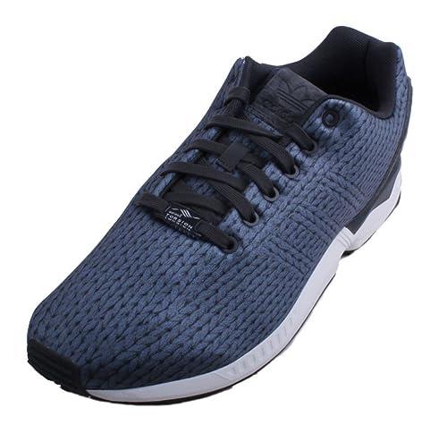 6d24e90d84c Adidas ZX Flux para Hombre Blanco Carbono Zapatos Deportivos Negros   Amazon.es  Zapatos y complementos