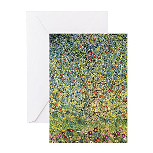 CafePress - Apple Tree By Gustav Klimt, Vintage Greeting Cards - Greeting Card (20-pack), Note Card with Blank Inside, Birthday Card Glossy ()