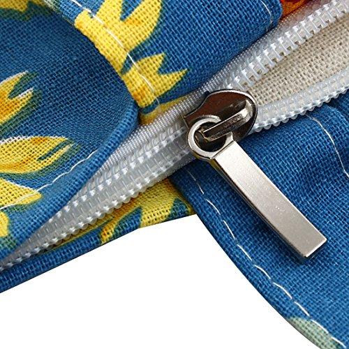 sourcingmap Reißverschluss Schulter Pack Hand Beutel Outdoor Einkaufen Handtasche Tasche Blau SrUH0V4