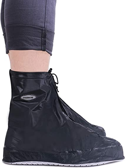 VXAR Shoes Covers Rain Snow Boots Waterproof Reusable Foldable Thicken Sole