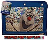 Disney Frozen School Supplies Canvas Blue Pencil Case with 2 Frozen Pencils