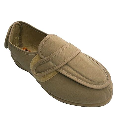 Zapatilla Mujer pies Muy Anchos con Velcro en talón y en el Empeine Doctor Cutillas en Tostado: Amazon.es: Zapatos y complementos