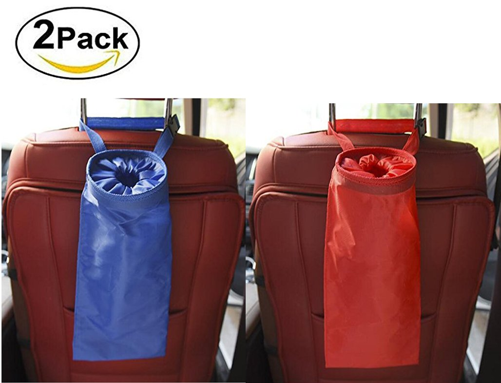 Car Trash Bags, Washable Leakproof Eco-Friendly Seatback Hanging Garbage Bags,Rubbish Container,Storage Bags,Organizer Bag (Pack of 2) Calmpal 4336806113