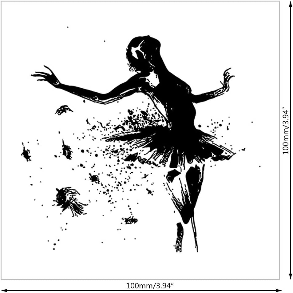 VIccoo Clear Stamps Dancer Silicone Transparent Stamp Background Clear Stamps DIY Scrapbooking Card Making