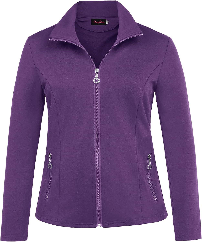 Hanna shipfree Nikole Women's Zip Front Warm-Up Plus Jacket Size Free shipping on posting reviews Lightwei