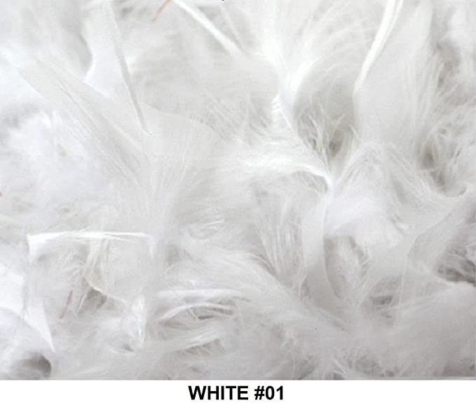 Cozy Glamour Over 50 Different Solid Color Feather Boas 6 Feet Long 50 Gram Weight (White #01) by Cozy Glamour