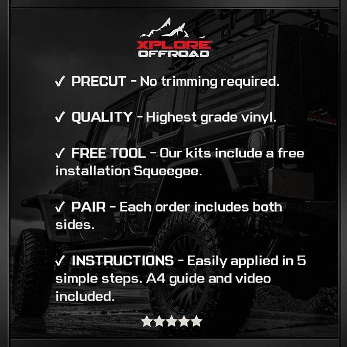 2010-2013 XPLORE OFFROAD Gloss Black Camaro Rally Sport Stripes Hood /& Trunk Decals