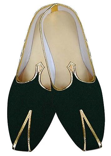 Mens Forest Green Wedding Footwear MJ015883