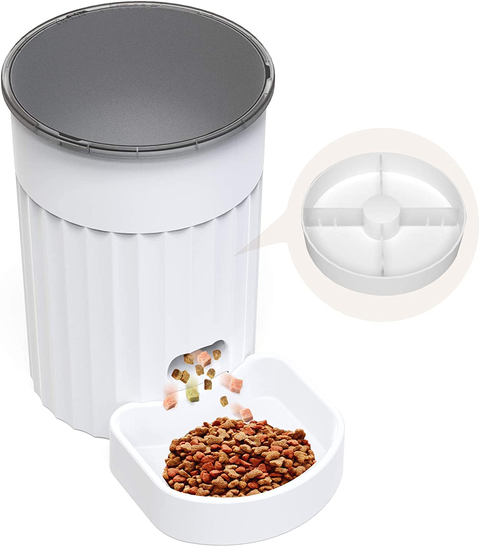DADYPET Comedero Automatico Gatos,Dispensador de Comida para Mascotas,3L Comedero Gato,Alimente hasta 4 Comidas con Regularidad