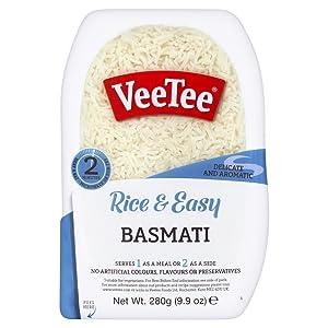 VeeTee Rice & Tasty Basmati - Microwavable Instant Rice - 9.9 oz - Pack of 6