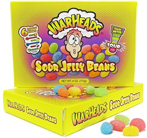 Warheads Sour Jelly Beans 4 oz (12 in a Box) by Warheads -