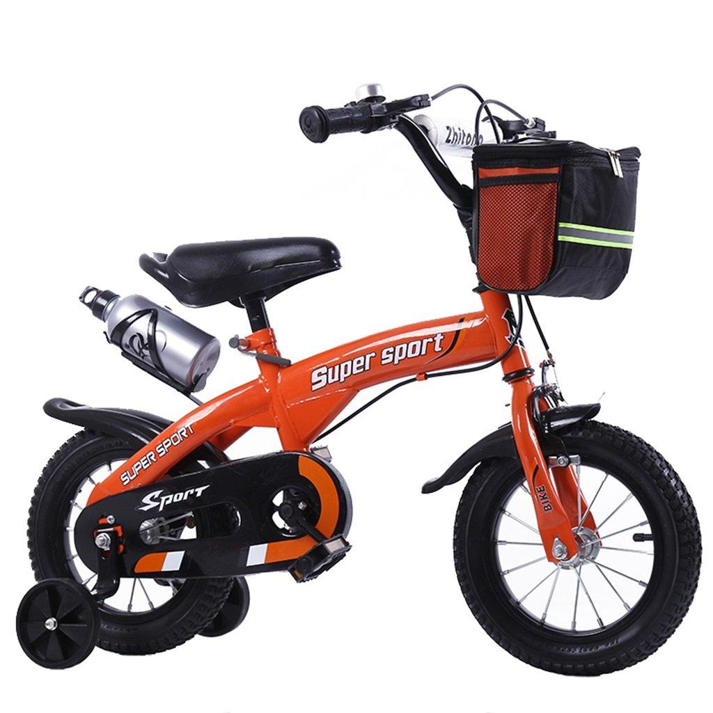 KANGR-子ども用自転車 子供用自転車アウトドアマウンテンバイク2-3-6-8ボーイズとガールズ子供用玩具調節可能ハンドルバー/トレーニングホイール付きサドルウォーターボトルとホルダー-12 / 14/16/18インチ ( 色 : オレンジ , サイズ さいず : 18 inch ) B07C9RKTHC 18 inch|オレンジ オレンジ 18 inch
