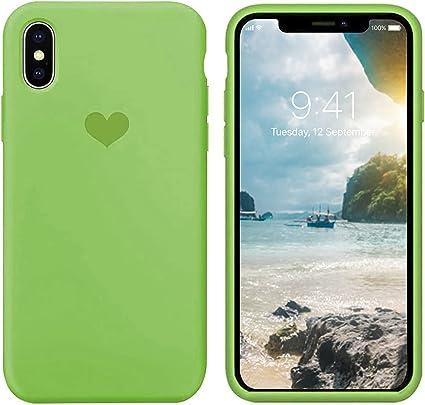 Custodia per iPhone X,Per iPhone X Cover in Silicone Liquido Soft Sottile [Anti-Graffio,Antiurto,Antiscivolo,AntiGraffio] Protettivo Case Compatibile ...