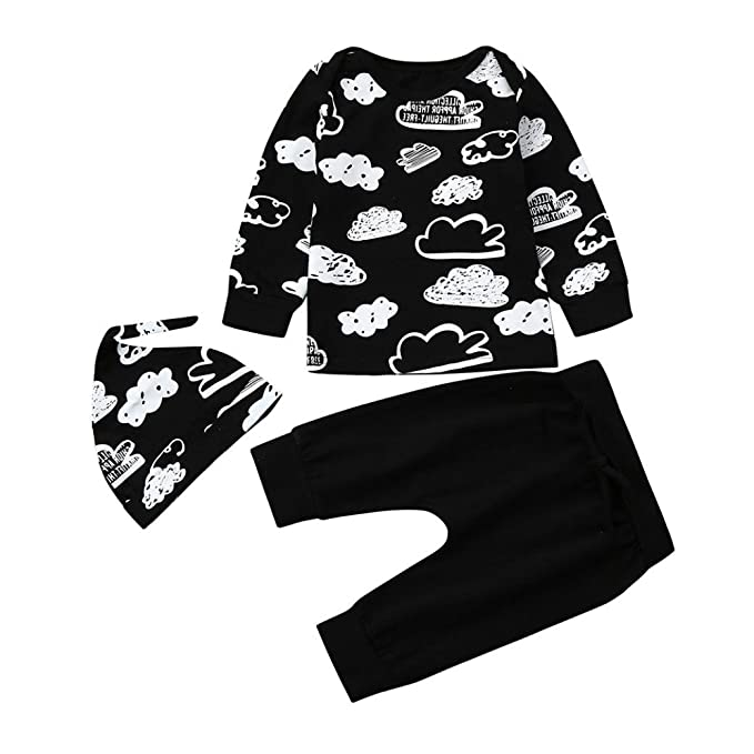 76b78289ab407 Infant Toddler Baby Boy Summer Clothes Outfits Cuekondy Letter Print Romper  Tops T-Shirt +Pants +Hat Set Father's Day Gift