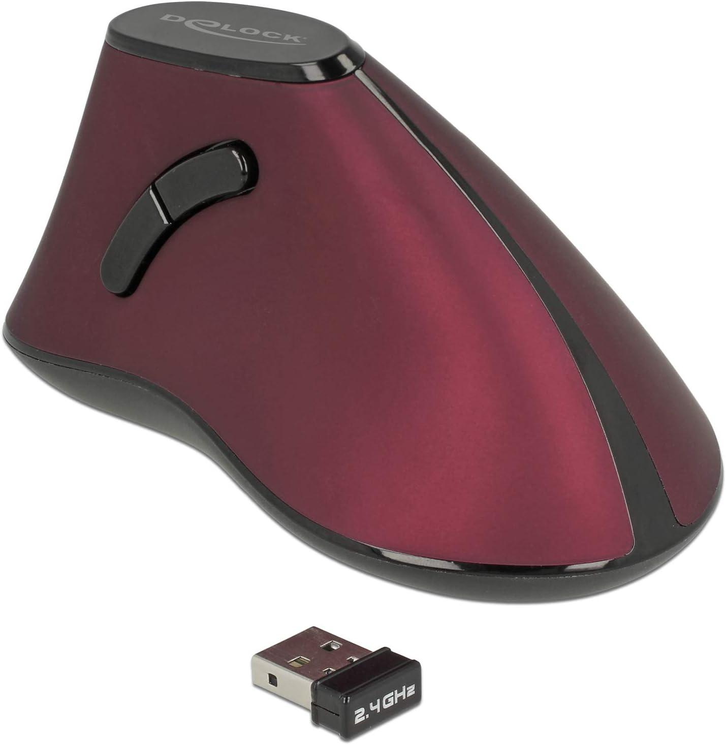 Delock Maus Ergonomisch Vertikal Optisch 5 Tasten 2 4 Computer Zubehör