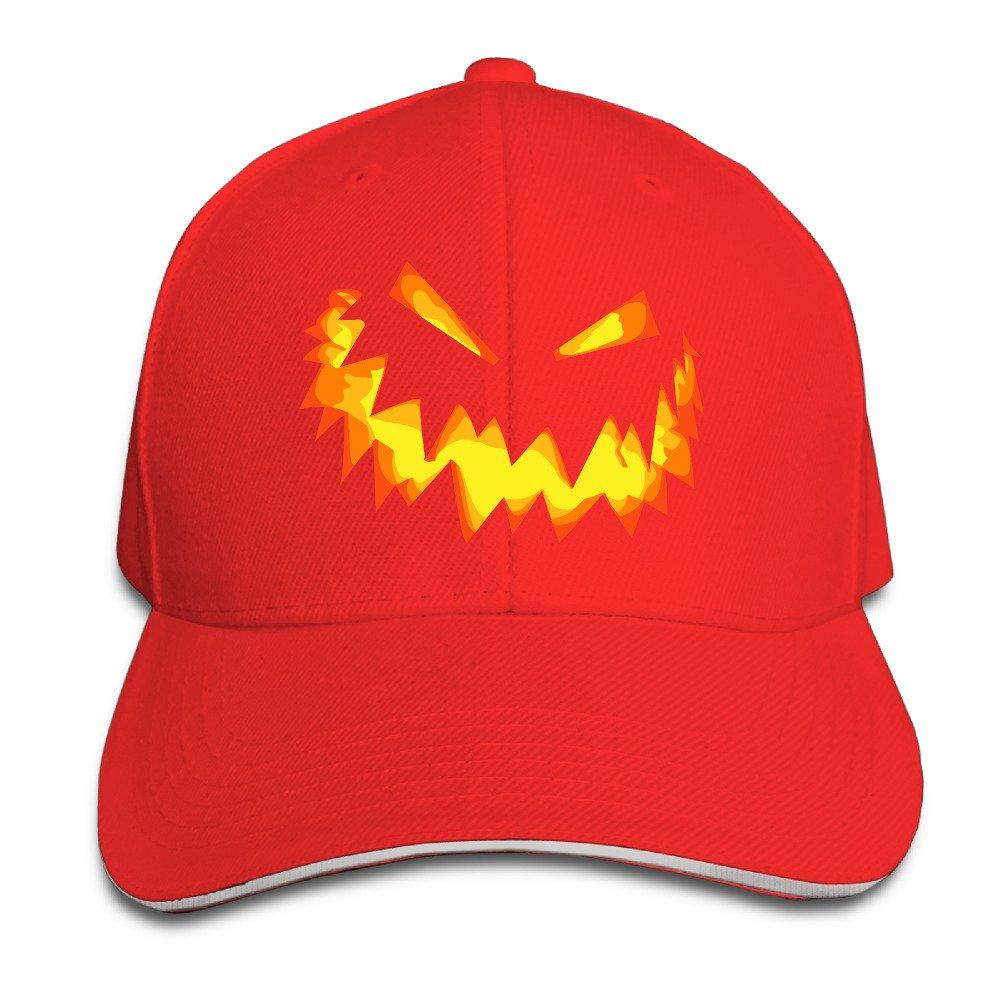 Antina89ya Unisex Happy Halloween Day Perfect Adjustable Sandwich Peaked Sun Cap/Hat