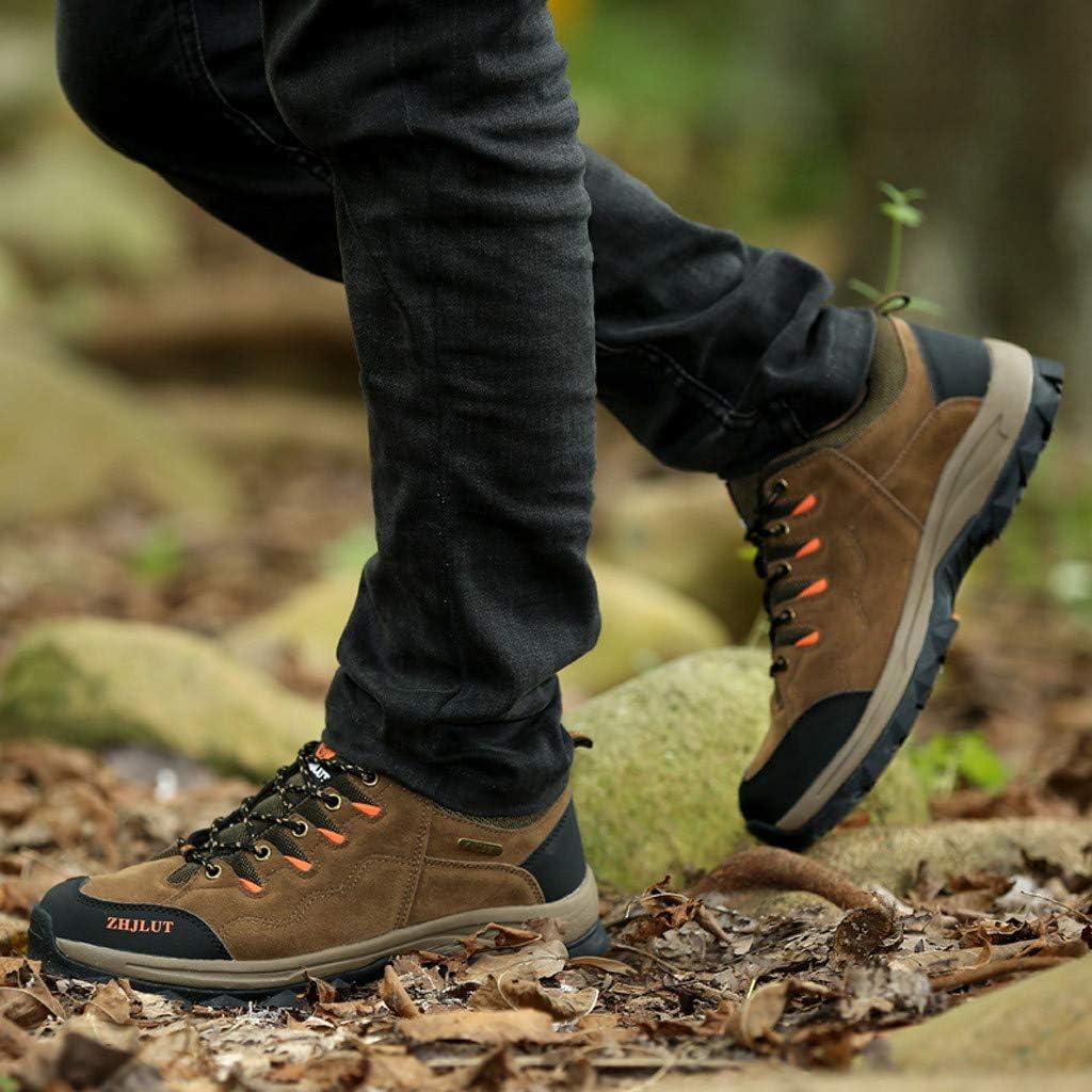 Jentouzz Men Women Hiking Shoes Waterproof Low Top Lace-Up Non-Slip Outdoor Sports Sneaker Breathable Walking Shoes