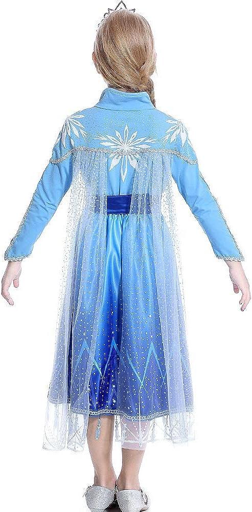 HAPPY WAMA Little Girls Princess Costume Dress Cosplay Halloween Party Dress