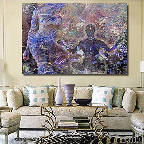 STJK$BMJW Abstract Canvas The Human Body Art Printed Paintin
