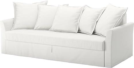 IKEA holmsund – Funda de algodón para cama sofá Ransta blanco ...