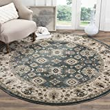 Safavieh Lyndhurst Collection LNH332T Traditional Oriental Teal and Cream Round Area Rug (7' Round)