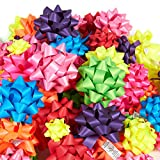#9: 120-Count Gift Wrap Bows - Gift Bows Peel and Stick Self Adhesive Gift Ribbon Bows - Perfect for Christmas, Birthday, All Occasions - Matte, Includes Large, Medium, Small Sizes, 8 Assorted Neon Colors