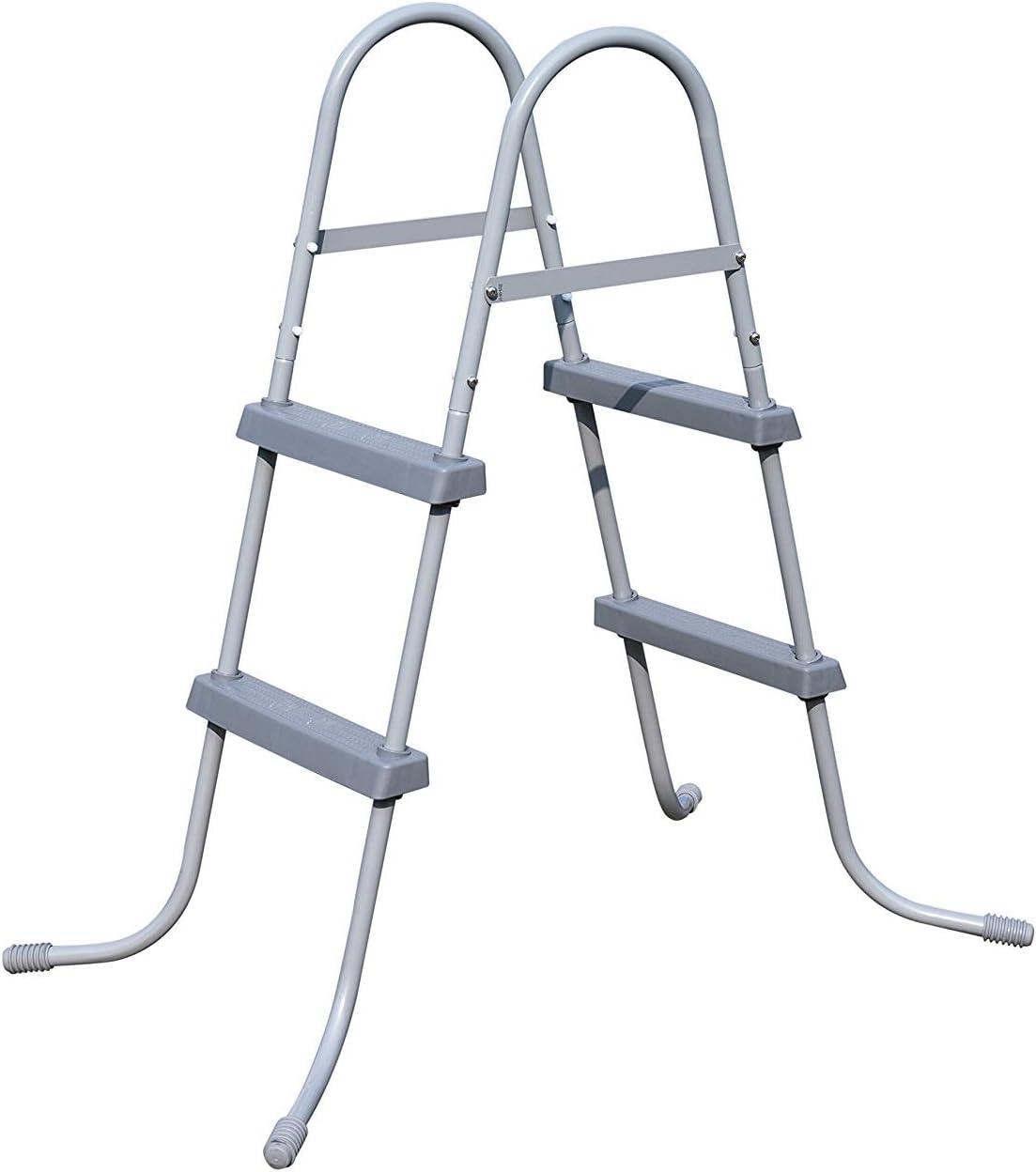 BEST.WAY - Escalera de Piscina para Exteriores, Altura de 84 33