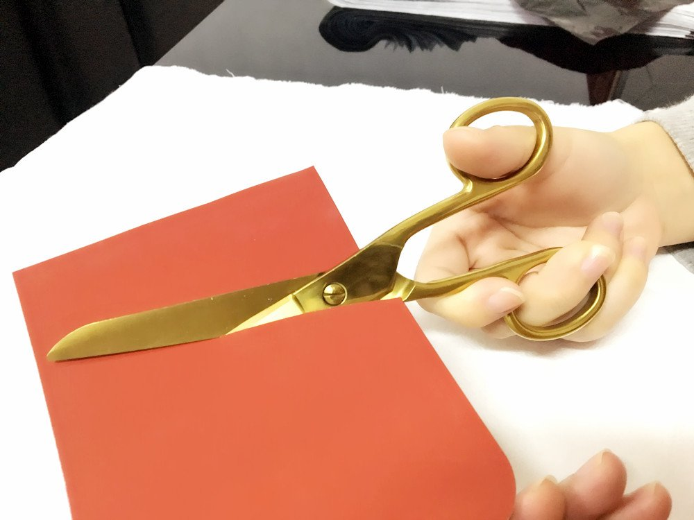 MultiBey 7'' Straight Recycled Stainless Steel Scissors Copper Gold fabric or Paper Shears by MultiBey (Image #5)
